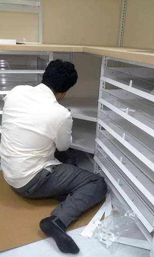 Our Team Sets up the Shelving System of National Ambulance of Abu Dhabi